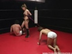 Mistress beats up her two pathetic slave at the same time Thumb
