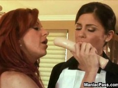 Lesbian MILF and eager maid Thumb