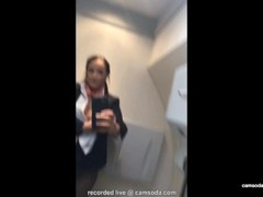 Flight attendant uses in-flight wifi to cam on camsoda! Thumb