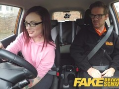 Fake Driving School American Teen Creampied by British Instructor Thumb
