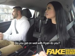 Fake Driving School Jasmine Jae fully naked sex in a car Thumb