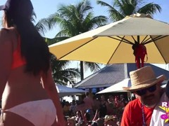 Naked pool party amateur Wet-t contest Key West Fantasy Fest Thumb