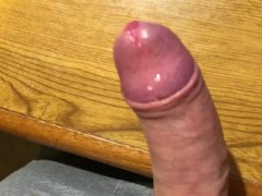 Masturbate and fast cum on my desk after sport before shower Thumb