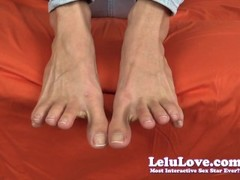 My barefoot natural toes and nails with feet and soles closeups Thumb