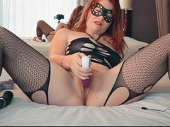 Wet Hairy Redhead Creamy Pussy Queef and Fart - Redhead Multi Dildo Orgasm Thumb