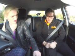 Fake Driving School Posh cheating wife with great tits has loud orgasms Thumb