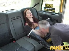 Fake Taxi Horny redhead brunette takes dick balls deep in her arse Thumb
