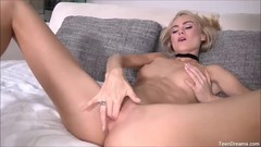 Sexy Teen Finger Her Shaved Juicy Pussy Thumb