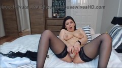 British beauty brunette gets a real intense orgasm Thumb